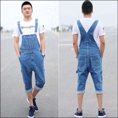 Мужчины комбинезоны и детские комбинезоны мужчины комбинезон ползунки общая мужчины деним джинсы длинная джинсы комбинезон 28 - 46