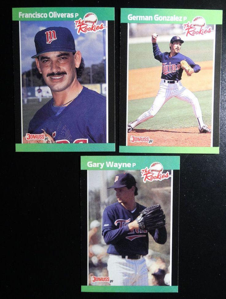 1989 Donruss Rookies Minnesota Twins Team Set of 3 Baseball Cards #MinnesotaTwins