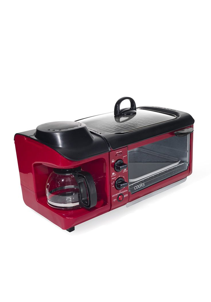 Matching Coffee Maker And Toaster : Late-night munchies are no match for this mean machine a coffee maker, toaster oven, and griddle ...