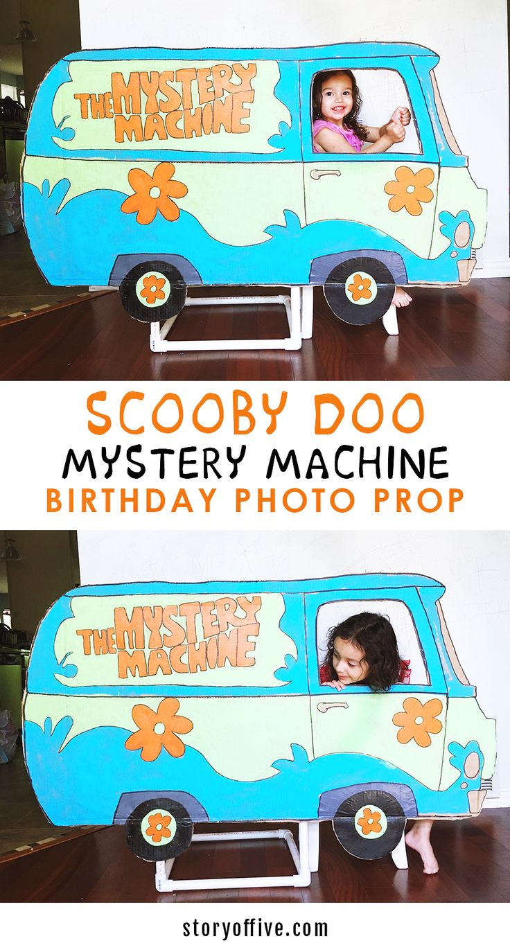 DIY Scooby Doo Party Mystery Machine Photo Prop