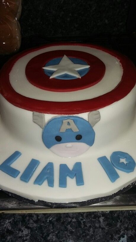 Captain America cake x