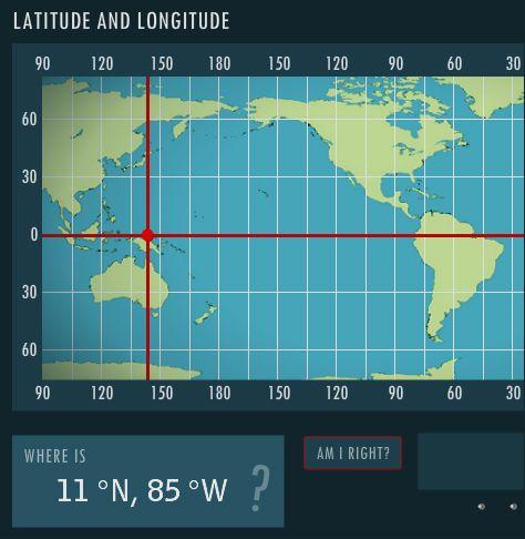 Latitude and Longitude - interactive skill builder