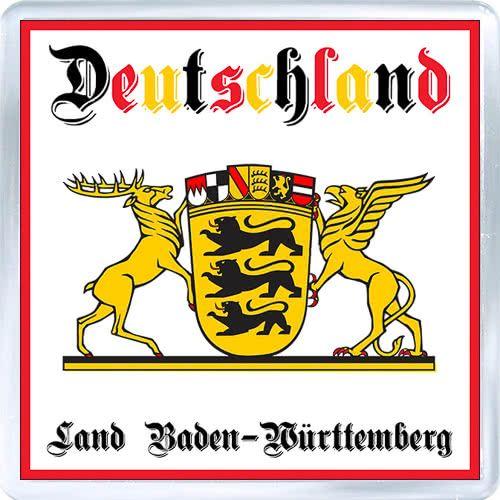 Acrylic Fridge Magnet: Germany. Coat of Arms of Baden-Wurttemberg (Land Baden-Wurttemberg)