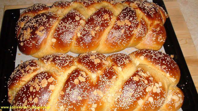 Σπιτικό ψωμί - Homemade Bread: Τσουρέκι Πολίτικο by Alex