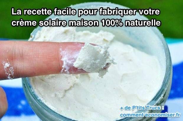 Savez-vous que la plupart des crèmes solaires contiennent des ingrédients toxiques ? Et même des perturbateurs endocriniens ? Heureusement, voici comment fabriquer votre propre crème solaire 100% naturelle :  Découvrez l'astuce ici : http://www.comment-economiser.fr/fabriquer-creme-solaire-naturel.html?utm_content=buffer2a849&utm_medium=social&utm_source=pinterest.com&utm_campaign=buffer