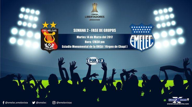 Melgar vs Emelec en Vivo Online Copa Libertadores 2017