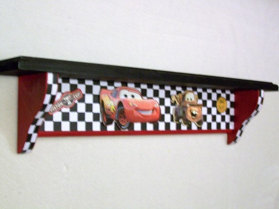 Disney Cars shelf by lauriereynolds1 on Etsy,
