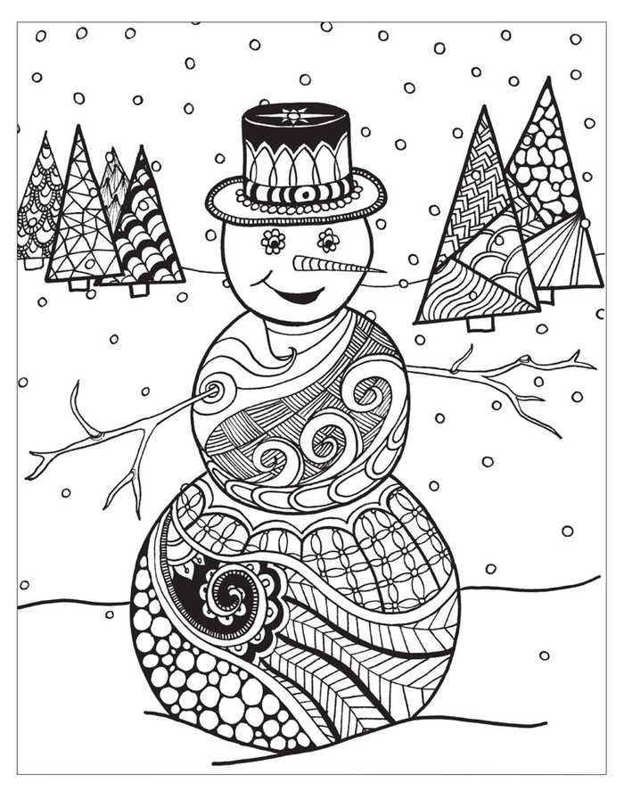 Christmas Coloring Pages For Adult Collection Coloring Pages Winter Christmas Coloring Pages Snowman Coloring Pages