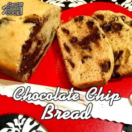 Chocolate Chip Bread - A fluffy vanilla bread with chocolate chips… it's like a cookie and cake in one!