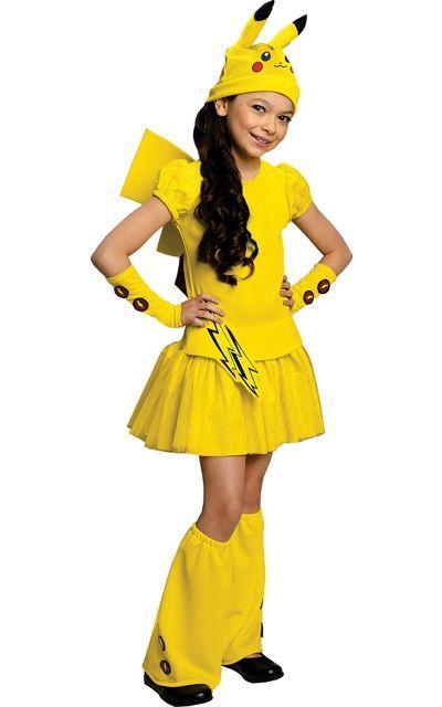 Girls Pikachu Costume Deluxe - Pokemon - Party City Canada --- Halloween 2016