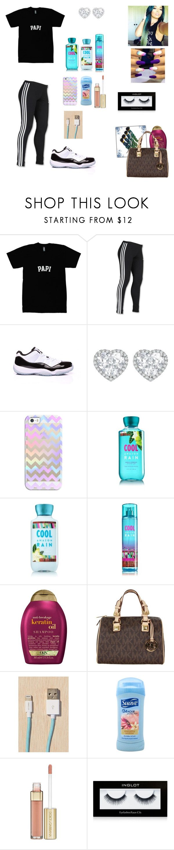 """""""Hair Appointment"""" by guapxgoddess ❤ liked on Polyvore featuring adidas, Concord, Kiki mcdonough, Sanders, Casetify, Organix, MICHAEL Michael Kors, Le Cord, Suave and Dolce&Gabbana"""