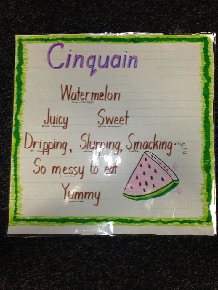 cinquain poem about watermelon - Google Search