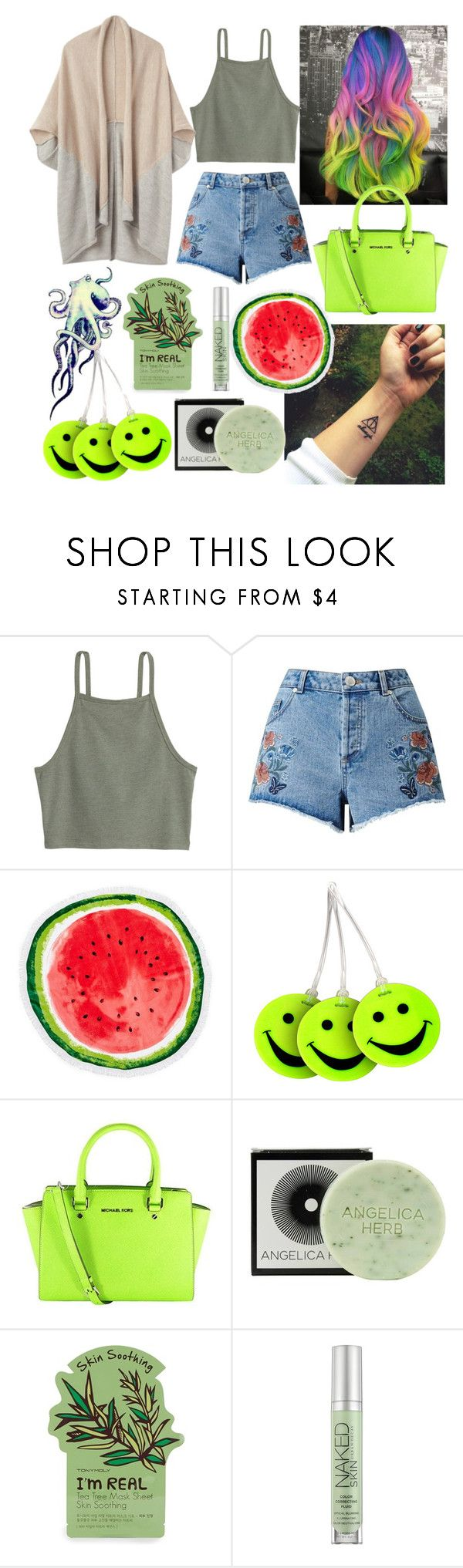 """👷🚞"" by georgyana7770 ❤ liked on Polyvore featuring Roberto Cavalli, Miss Selfridge, Nordstrom Rack, Lewis N. Clark, Michael Kors, Jayson Home, Tony Moly and Urban Decay"