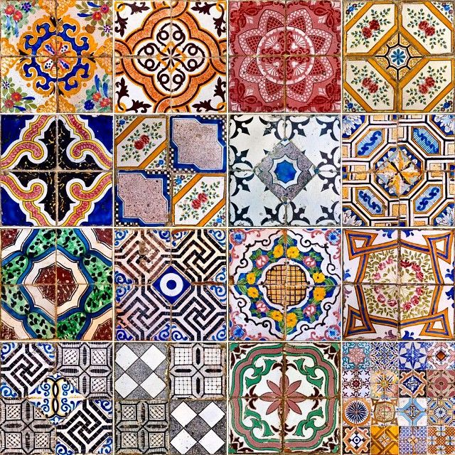 Tiles at Villa Treville, Positano