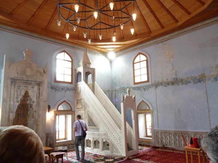 Inside a mosque, Mostar, BiH.
