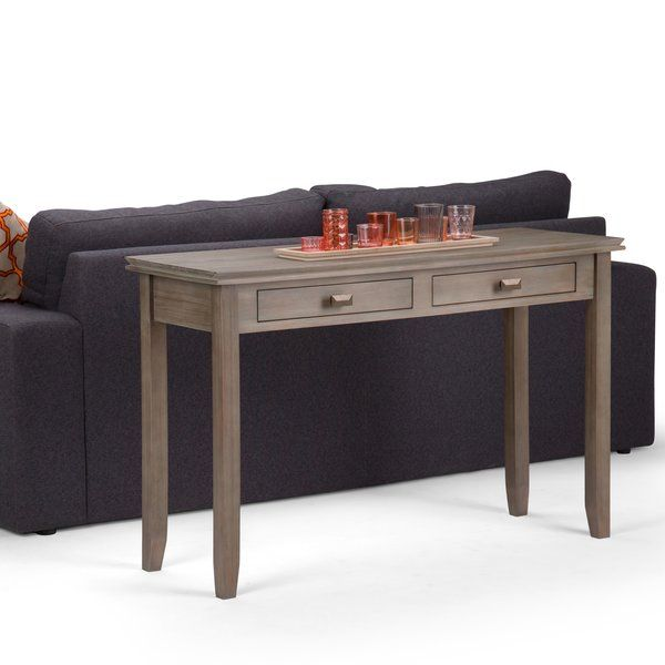 Artisan Console Table Wyndenhall Wood Console Sofa Table