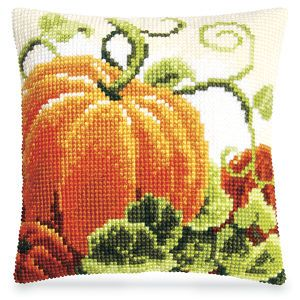 Pumpkin Pillow Top - Cross Stitch, Needlepoint, Embroidery Kits – Tools and Supplies