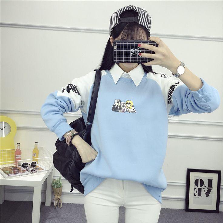 Femmes Sweat 2017 Harajuku Kawaii de Bande Dessinée Occasionnel Imprimer  Survêtement Femmes Hoodies Sweat Femme Douce