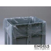 Plastic zak 670 ltr, voor in boxpallets 1200x1000 mm, transparant
