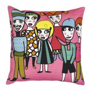 """Cushion cover in new design spring 2014 """"Nära och kära"""""""