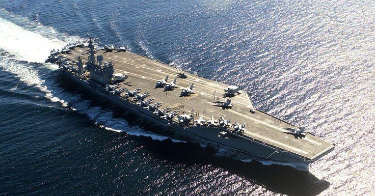 USS Nimitz (CVN-68), a US Navy aircraft carrier. Photo is from after her 1999-2001 refit