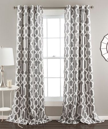 Another great find on #zulily! Gray Bret Curtain Panel - Set of Two #zulilyfinds