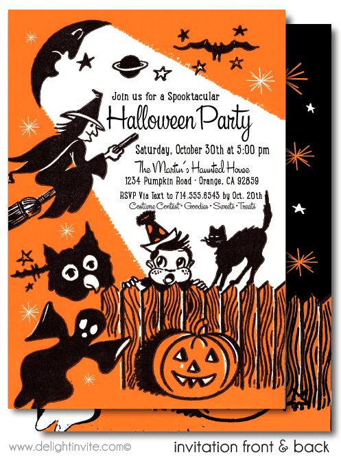 The 25 best Halloween party invitations ideas on Pinterest