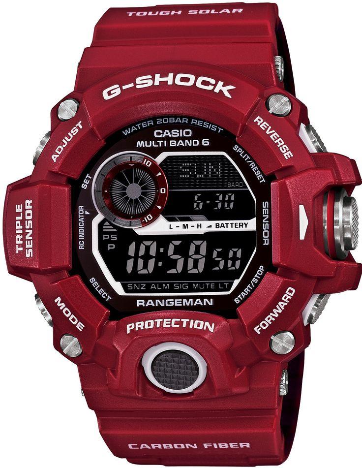 Casio, Mens Casio Watches G-shock Men in Rescue Red Rangeman Gw-9400rdj-4jf