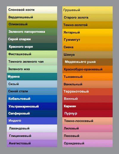 Цвет/сочетания цветов