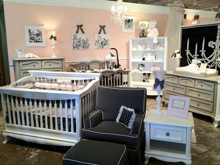 Antonio Collection Crib, Bookcase, Nightstand In White With Rubbed Black. # Crib #
