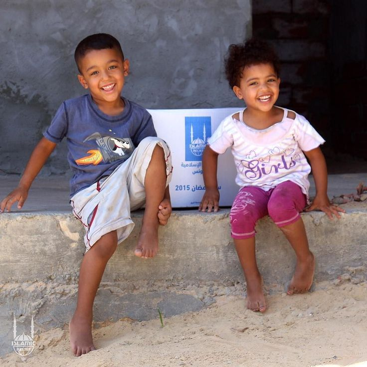 Two happy children receive their #Ramadan food package in #Tunisia. Every year Islamic Relief has a seasonal food distribution during Ramadan that provides struggling families with staple food items.   Will you send relief to a family in need this Ramadan?   Visit irusa.org. http://ift.tt/2owF7O4
