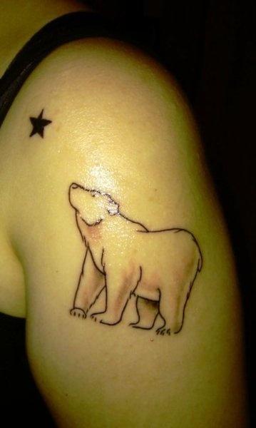 California Flags, Stars Tattoo, Polar Bears, Bears Tattoo, Star Tattoos, Polar Bear Tattoo, Bear Tattoos, Brown Bears, Tattoo Ink