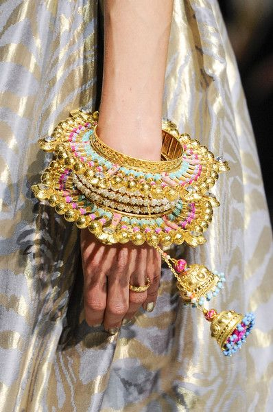 Staked Indian style bangles @ Manish Arora Spring 2013 Paris Fashion Week #PFW