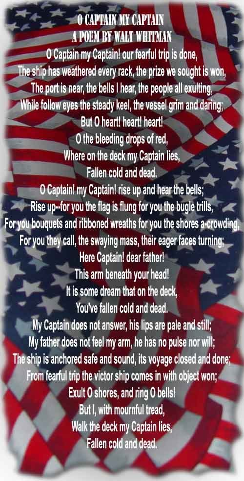 Free Pictures Memorial Day | Memorial Day. O Captain My Captain A Poem By Walt Whitman