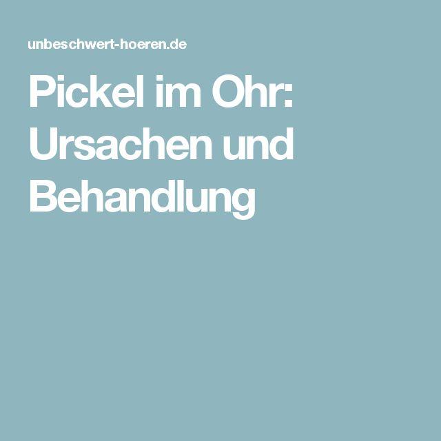 Pickel im Ohr: Ursachen und Behandlung