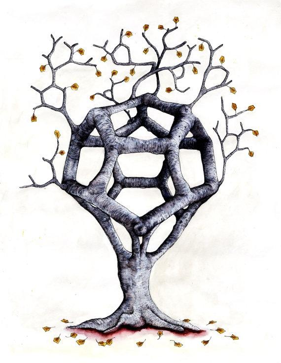Twiganometry Illustration by BeastsandBirdies on Etsy, £40.00