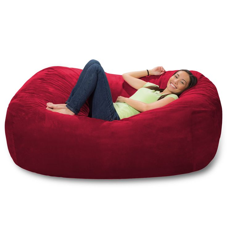 Perfect For The Buckeye Living Room And Family Cuddle Time6 Foot Bean Bag Lounger Huge ChairBean