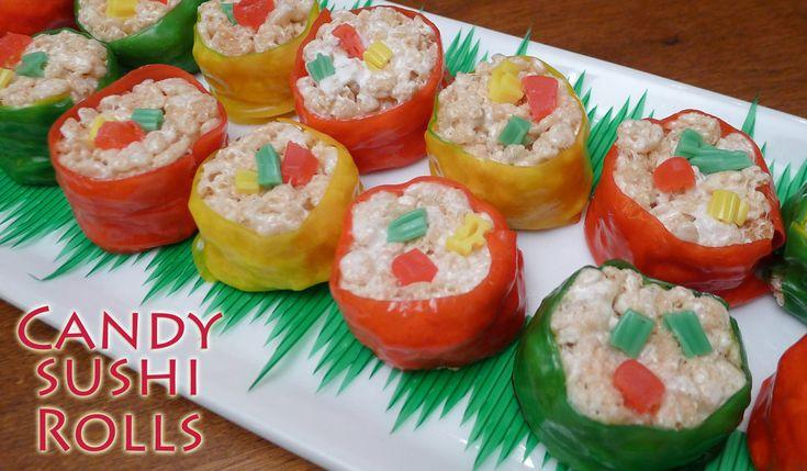 Fun Candy Sushi Rolls Recipe
