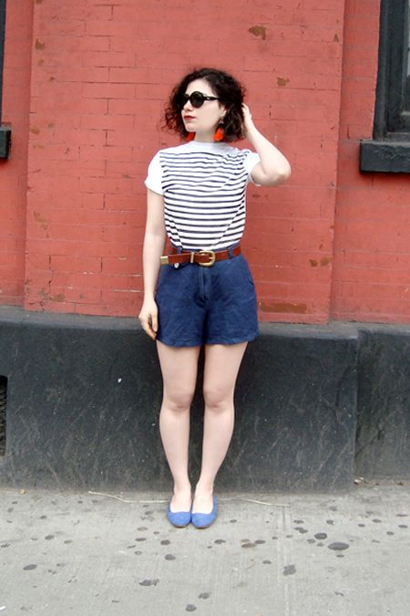 Make A DIY Breton Striped Shirt With Spray Paint! #refinery29  http://www.refinery29.com/i-diy-how-to-spray-paint-a-breton-stripe-shirt#slide8  8. Try it on and wear it out!