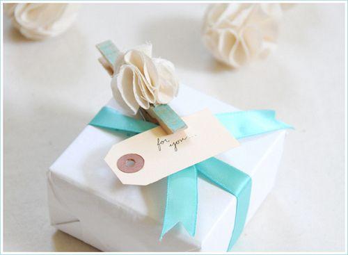 Blue ribbon: box