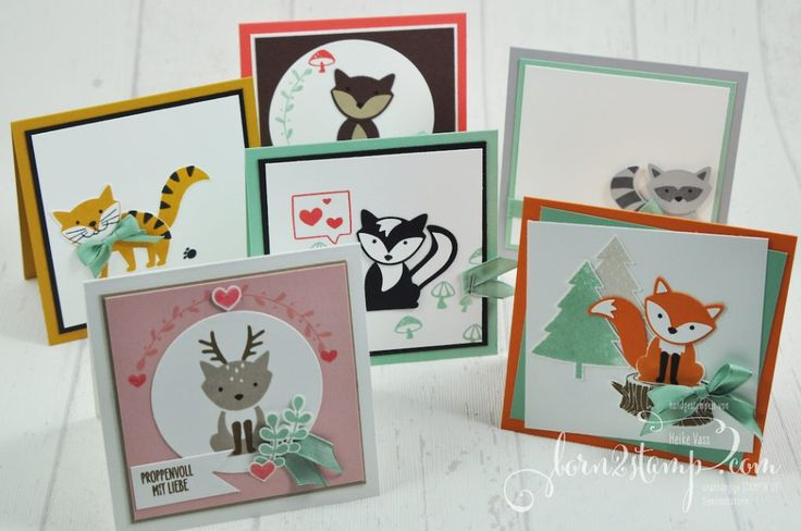born2stamp STAMPIN' UP! - INKSPIRATION Week JHK 2016-2017 - Foxy Friends - Stanze Fuchs - Leinenband Minze