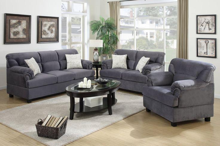 grey sofa set, modern design for reference