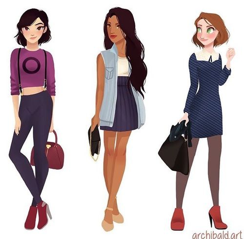 Mulan, Pocahontas, and Rapunzel female reference