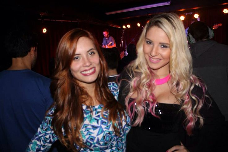 Copper hair and ombré blond hair with pink highlights