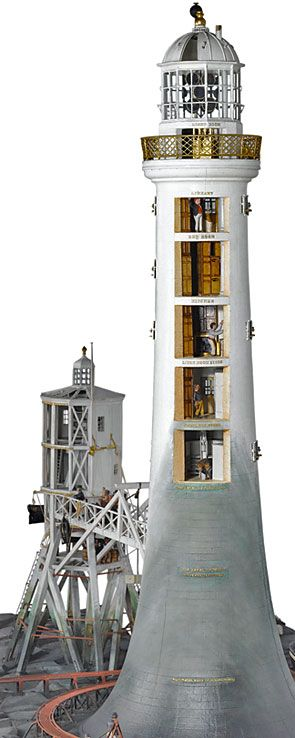 Model of the construction of Bell Rock Lighthouse. Photo: © The Trustees of the National Museum of Scotland