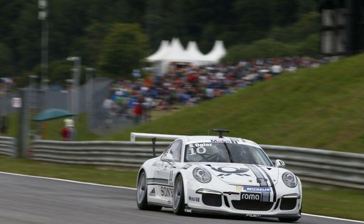 Kurzes Vergnügen für Sébastien Ogier im Porsche Supercup