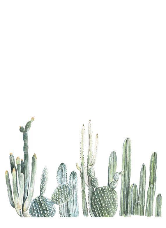Vertical Cactus Print  cactus painting  cacti door FoxHollowDesignCo