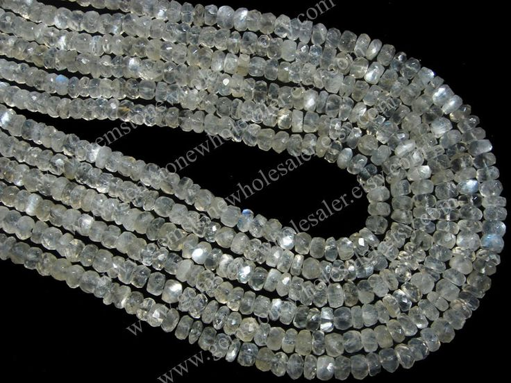 Sillimanite Faceted Roundel (Quality AA) / 3.50 to 4.50 mm / 8 to 10 Grms / 36 cm / SI-001 by GemstoneWholesaler on Etsy