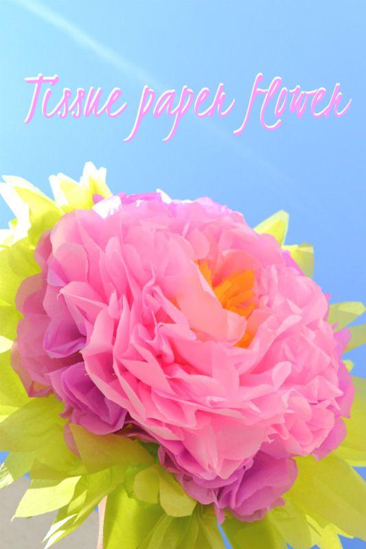 Un maxi fiore di carta velina perfetto per decorare a festa gli interni e gli esterni. Ecco il link per realizzarlo http://www.lafigurina.com/2015/07/tutorial-come-realizzare-un-fiore-decorativo-di-carta-velina/