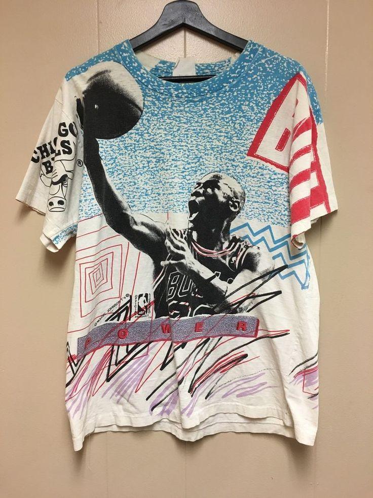Men's Magic Johnson T's Michael Jordan T-Shirt Vintage Chicago Bulls NBA Size L  | eBay